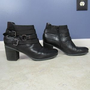 Josef Seibel Black Leather Booties